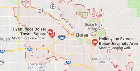 Boise Business Map For Marketing