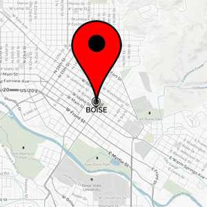 Map of Boise, ID