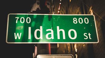 Idaho Street In Downtown Boise